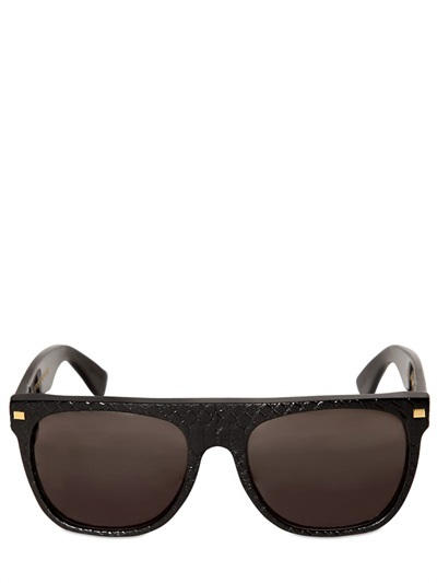 Super Flat Top Goffrado Acetate Sunglasses