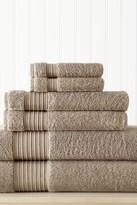 Amrapur 6-Piece Turkish Cotton Towel Set - Taupe