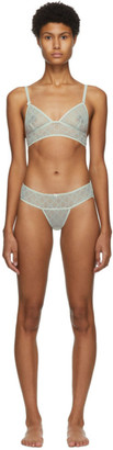 Gucci Off-White Tulle GG Lingerie Set