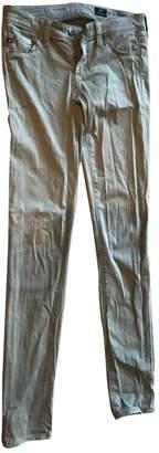 AG Adriano Goldschmied Khaki Cotton - elasthane Jeans for Women