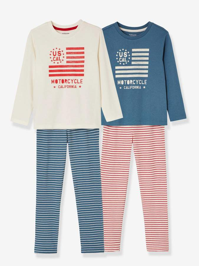Vertbaudet Boys' Pack of 2 Mix & Match Pyjamas