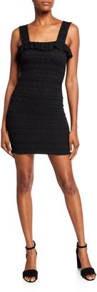 Nightcap Clothing Starlit Stripe Mini Stretch Lace Dress