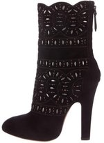 Alaia Studded Mid-Calf Boots