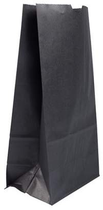 Jam Paper & Envelope JAM Kraft Lunch Bags, X-Large, 6 1/4 x 3 13/16 x 12 1/2, Black, Bulk 500 Bags/Box