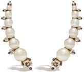 Annoushka 18kt rose gold diamonds pearl ear pins