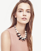 Ann Taylor Pearlized Crystal Statement Necklace