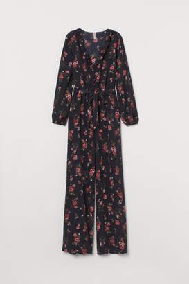 H&M Jumpsuit with Tie Belt - Black