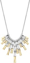 John Hardy 18K Yellow Gold and Sterling Silver Bamboo Bib Necklace, 16