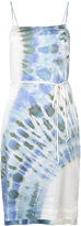 Raquel Allegra tie-dye print belted dress