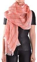 Altea Women's Orange Linen Scarf.