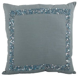 Saro Lifestyle Seed Bead 18-inch Down Filled Throw Pillow