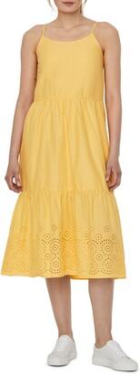 Vero Moda Halo Eyelet Sleeveless Tiered Dress
