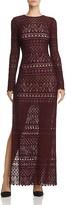 Alice + Olivia Dawna Side-Slit Maxi Dress