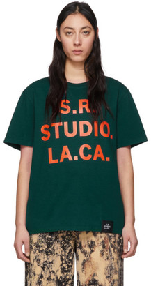 S.R. STUDIO. LA. CA. Green and Orange Vampire Sunrise T-Shirt