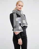 Cheap Monday Striped Logo Scarf