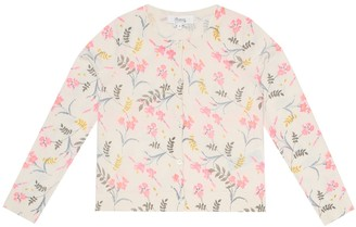 Bonpoint Floral cotton cardigan