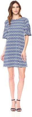 Ronni Nicole Women's Ruffle Sleeve Textured Knit Shift Dress