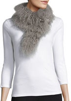 Adrienne Landau Lamb Fur Collar Scarf