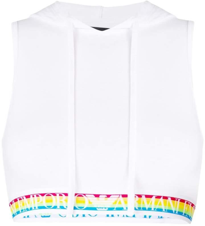 Emporio Armani cropped logo bra