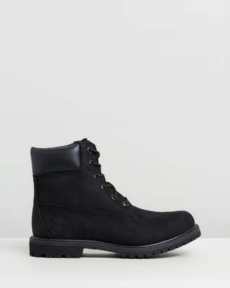 Timberland Women's Black Lace-up Boots - Womens 6-Inch Premium Lace Up Boots - Size 9 at The Iconic
