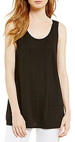 Eileen Fisher Organic Linen Long Tank