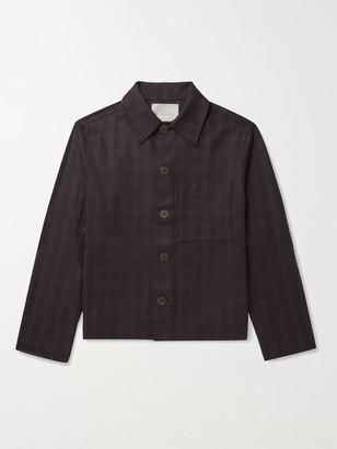 Studio Nicholson Prince Of Wales Checked Wool Blouson Jacket