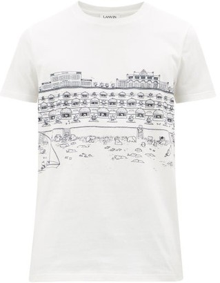 Lanvin Babar Beach Cotton T-shirt - Mens - White