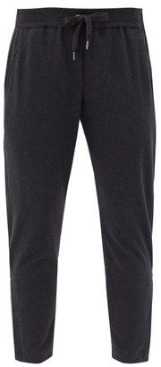 Brunello Cucinelli Cropped Cotton-blend Track Pants - Dark Grey
