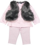 Vitamins Baby Gray Vest Set - Infant