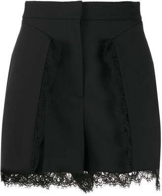 Alexander McQueen Lace-Trimmed Shorts