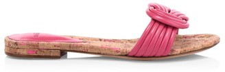 Alexandre Birman Sue Knotted Flat Leather Sandals