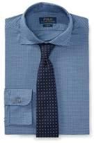Ralph Lauren Slim Fit Cotton Dress Shirt 1891 Peri/Blues Heather 14.5