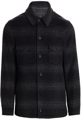 Saks Fifth Avenue Plaid Shirt Jacket