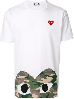 Comme des Garcons heart print crew neck T-shirt