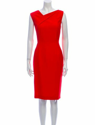 Roland Mouret Asymmetrical Knee-Length Dress w/ Tags Red