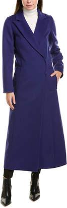 Oscar de la Renta Wool & Angora-Blend Coat