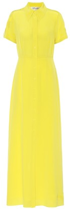 Diane von Furstenberg Georgia silk-crApe maxi shirt dress