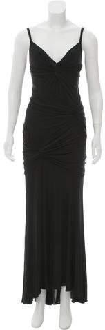 Donna Karan Gathered Evening Dress