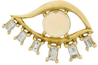 Ileana Makri 18kt Yellow Gold Diamond Teared Eye Stud Earring
