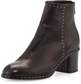 Rag & Bone Willow Studded Leather Ankle Boot, Black