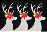 Liora Manné Front Porch Indoor/Outdoor Reindeer Black 2' x 3' Area Rug