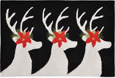 "Liora Manné Front Porch Indoor/Outdoor Reindeer Black 2'3"" x 6' Runner Rug"