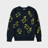 Paul Smith Boys' 7+ Years Navy 'Arrow' Intarsia Sweater