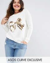 Asos Sweater with Embellished Bow