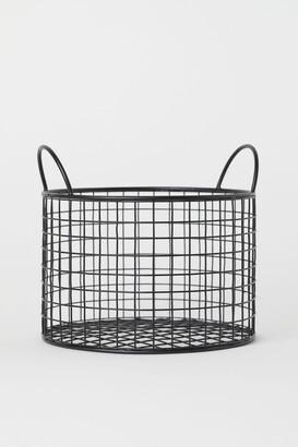 H&M Round Metal Wire Basket - Black