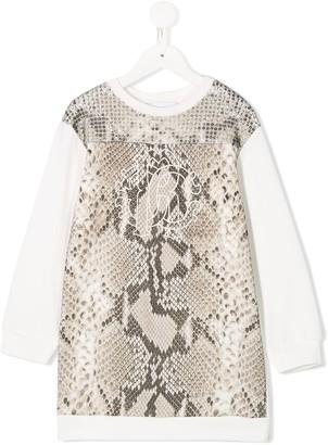 Roberto Cavalli Junior Sequin Detail Dress