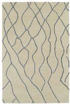 Peaks Hand-tufted Utopia Ivory Wool Rug (5' x 8')