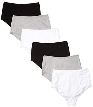 Pact Organic Cotton High-Rise Hipster 6-Pack (Basics) Women's Underwear