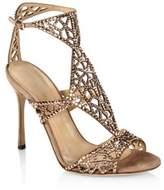 Sergio Rossi Tresor Swarovski Crystal and Suede Sandals