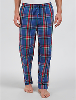 Polo Ralph Lauren Brighton Check Woven Cotton Lounge Pants, Blue/red